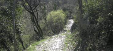 l'antica mulattiera che collega già dall'antichità la via di Francia verso il Castello Abbaziale e l'Abbazia;