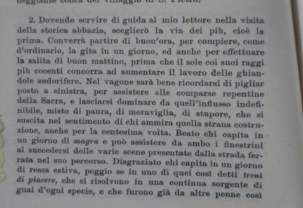 in una descrizione del viaggio in treno del 1907